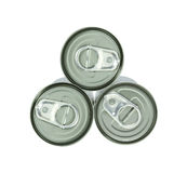 Aluminum cans and ring pull Stock Images