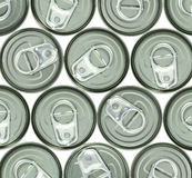 Aluminum cans and ring pull Royalty Free Stock Images