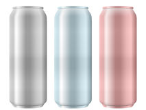 Aluminum cans set Stock Image