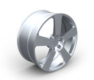 Aluminum Car Wheel Rim on White Royalty Free Stock Photos