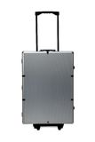 Aluminum case on wheels Royalty Free Stock Photography