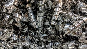 Aluminum chips. Spiral aluminum shavings can be used as background or wallpaper and other possibility to modify to your taste stock illustration