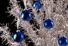 aluminum christmas tree Στοκ Φωτογραφία