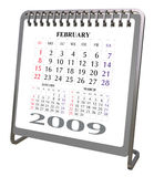 Aluminum and Chrome Desktop calendar 2009 Royalty Free Stock Photography