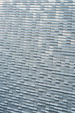 Aluminum cladding. On exterior building surface Stock Photo