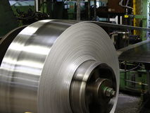 Aluminum coil Stock Photo