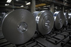 Aluminum coil Royalty Free Stock Photos