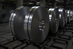 Aluminum coil. An aluminum coil, aluminum slab factory in Stock Photography
