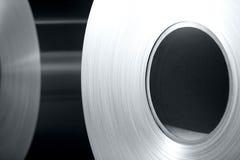 Aluminum coils Stock Photo