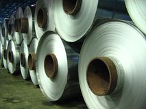 Aluminum coils, Rolled aluminium coil Royalty Free Stock Photography