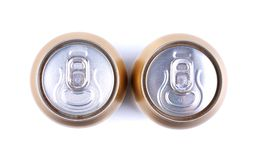 Aluminum cola can, view from the top Stock Photos