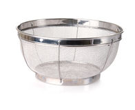 Aluminum Colander. Large aluminum colander for draining pasta or fruits and vegetables Stock Photography