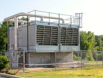 Aluminum Colored Diesel Powered Generator Stock Photo