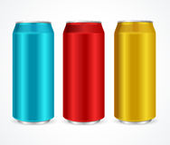 Aluminum Colorful Cans. Vector Royalty Free Stock Photo