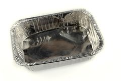 Aluminum container Royalty Free Stock Images