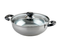 Aluminum cooking pot Royalty Free Stock Images