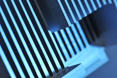 Aluminum cooling plate Stock Photo