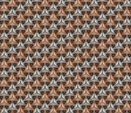 Aluminum and cooper geometric seamless background pattern v 2 vector illustration