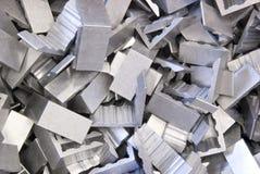 Aluminum corners. A pile of aluminum corners Stock Images