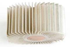 Aluminum cpu cooler Royalty Free Stock Image