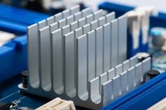 Aluminum cpu cooler Stock Photo