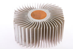 Aluminum cpu cooler Stock Images