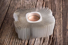 Aluminum cpu cooler heat sink royalty free stock photos