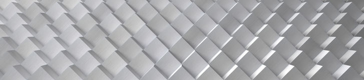 Aluminum Cubes Background (Website Head) - 3D Illustration Stock Photos
