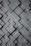 Aluminum Cubic Tile Background. A high detail brushed aluminum 3D cubic tile background Stock Photography