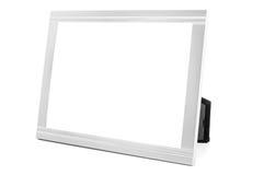 Aluminum decorative photo frame on white background Stock Photography