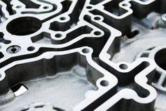 Aluminum delar för modell av motorn arkivbilder