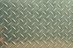 Aluminum diamondplate background Stock Photography