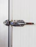 Aluminum door knob on the door of electric control Stock Image