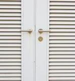 Aluminum door knob Stock Photography