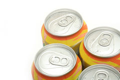 Aluminum drink cans Royalty Free Stock Photos