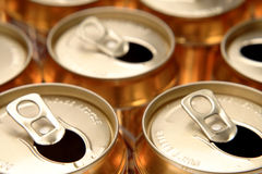 Aluminum drink cans Royalty Free Stock Images