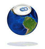 Aluminum Earth Royalty Free Stock Images
