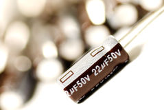 Aluminum Electrolytic Capacitors Royalty Free Stock Photos