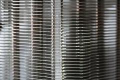 Aluminum element med den kopparnärbilden för värmerör med härlig bokeh royaltyfri fotografi