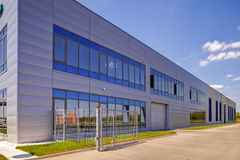 Aluminum facade on industrial building Stock Photography