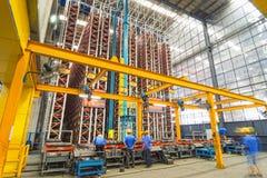Aluminum factory workshop Stock Image