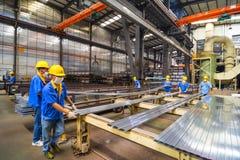 Aluminum factory workshop Royalty Free Stock Image