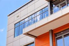 Aluminum fasad- och alubondpaneler Royaltyfria Bilder