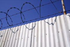 aluminum fence razor wire Στοκ Εικόνα
