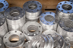Aluminum Flanges Stock Photography