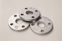 Aluminum Flanges Royalty Free Stock Photo