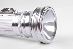 Aluminum flashligh Royalty Free Stock Photo