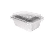 Aluminum foil container Royalty Free Stock Image