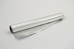 Aluminum foil. For cooking in the oven pictures4 Royalty Free Stock Photo