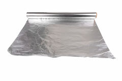 Aluminum foil food Stock Image